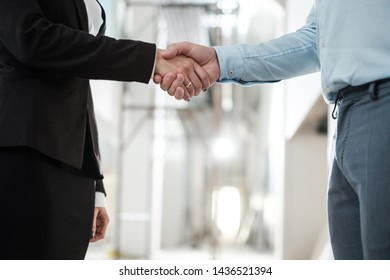Business people shaking hands as a sign of agreement
