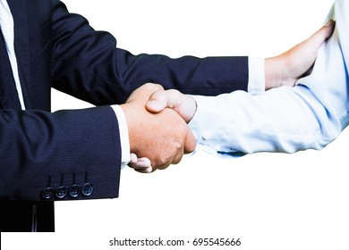 business people shaking hand,Thank you for joining our business