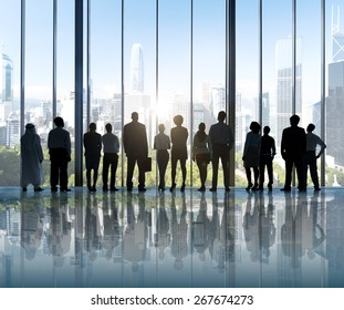 Business People Silhouette The Way Forward Vision Concepts