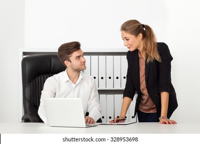 business people sitting in the office