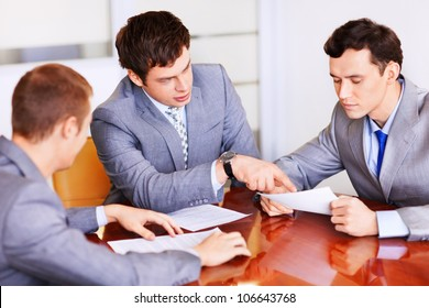 Business people in a suit at the office