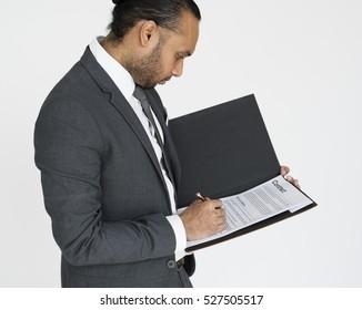 Business People Suit Studio Concept