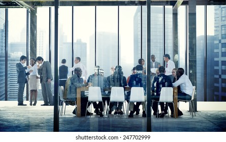 Business People Talking Conference Meeting Room Concept