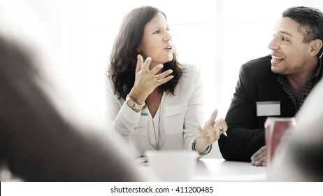 Business People Talking Discussing Concept