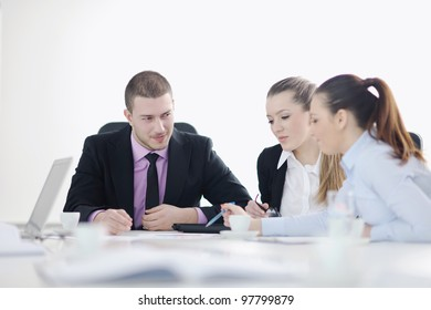 business people  team  at a meeting in a light and modern office environment.
