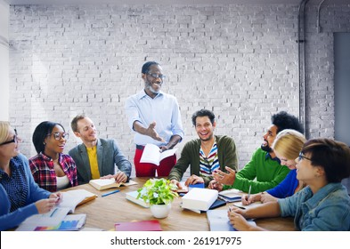 Business People Team Teamwork Cooperation Occupation Partnership Concept