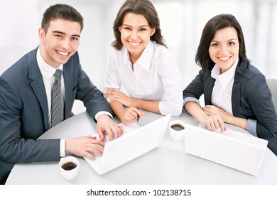 Business people. Business team working on their business project together at office.