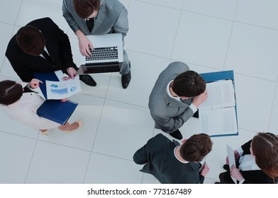 Business people. Business team working on their business project