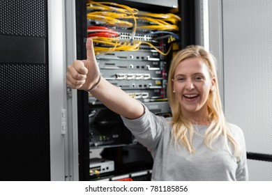business, people and technology concept - happy smiling businesswoman