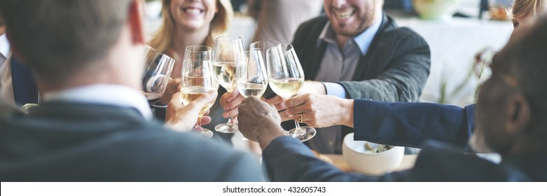 Business People Toast Success Achievement Colleagues Corporate Concept