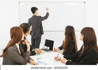 Business people are training at the office