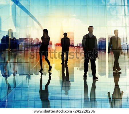 Business People Urban Scene Organization Team City Life