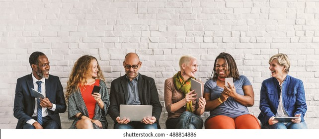 Business People Using Digital Concept