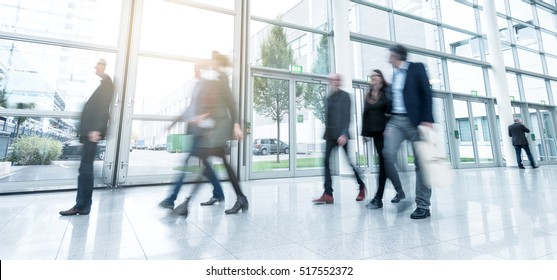 business people using a walkway