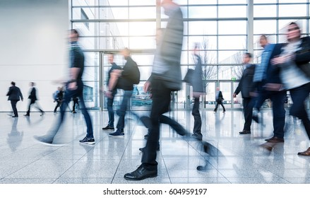 Business People Walking on a modern floor