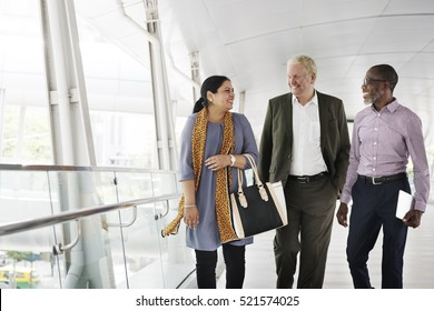 Business People Walking Together