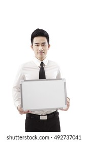Business people and whiteboard