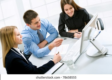Business people work at the office