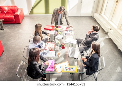 Business people at work in the office - Business meeting in a start up