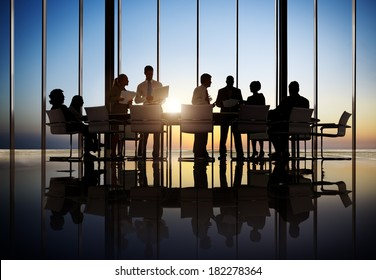 Business People Working In a Conference Room