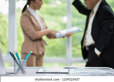 Business people are working in office