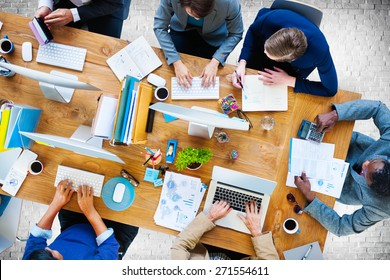 Business People Working Office Corporate Team Concept
