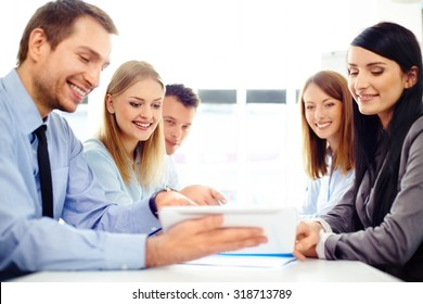 Business people working at office, developing new concepts