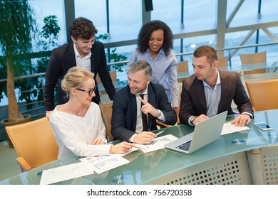 Business people working as a team at the office.