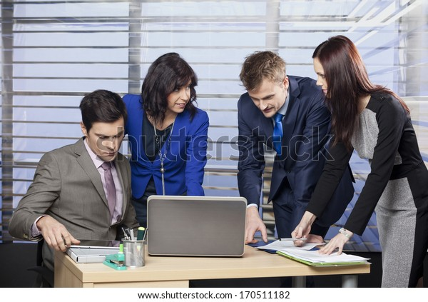 Business people working as a team at the office
