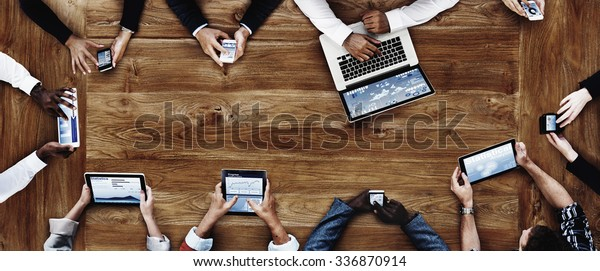 Business People Working with Technology Concept