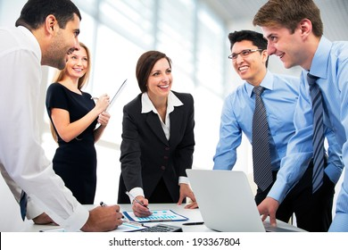 Business people working together