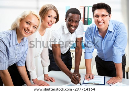 Business People Working Together Diverse Work Stock Photo Edit Now