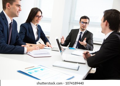 Business people working together in the modern office