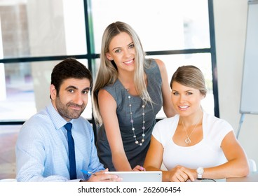 Business people working together in office