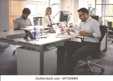 Business people working. Business people together in office.