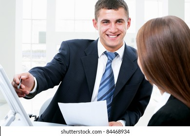 Business people working together at office