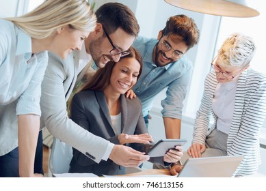 Business people working together on a project
