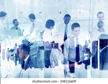 Business People Working Togetherness Teamwork Support Partnership Company