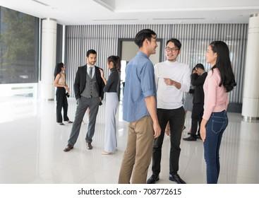 Business PeopleOutdoor Meeting  Celebration Concept. Setup studio shooting.