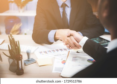 business person having handshake, concept of successful business