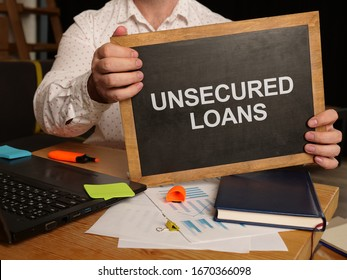 Business photo shows printed text unsecured loans - Shutterstock ID 1670366098