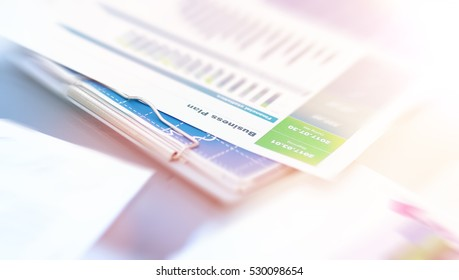 Business plan and business chart