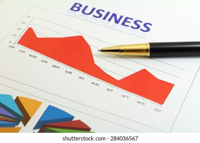 Business plan and business graph