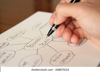 Business plan, management mind map