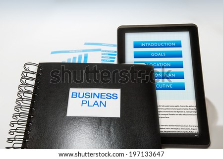 business plan package includes printed booklet stock photo edit now