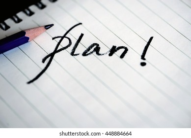 business plan or planning concept with pencil.