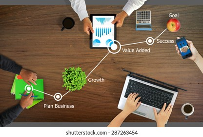 Business planning,Steps to Success concept.