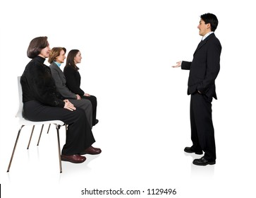 Business presentation in an office 7