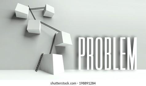 Business problem metaphor, conceptual illustration