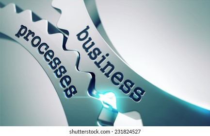 Business Processes on the Mechanism of Metal Gears.